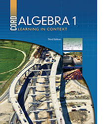 cover of algebra 1 3rd edition textbook