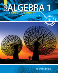 cover of algebra 1 4th edition textbook